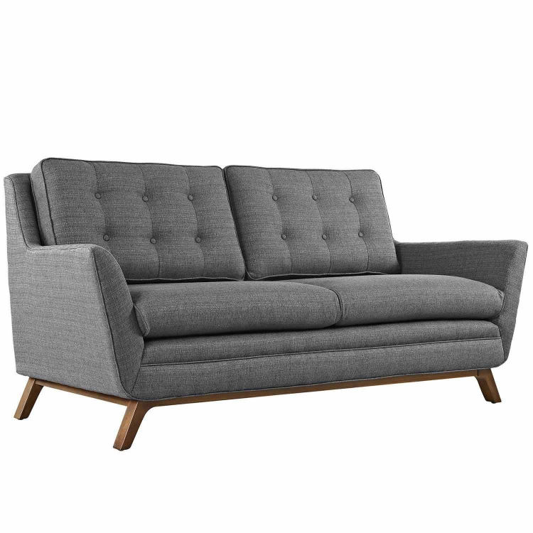 Beguile Fabric Loveseat - Gray