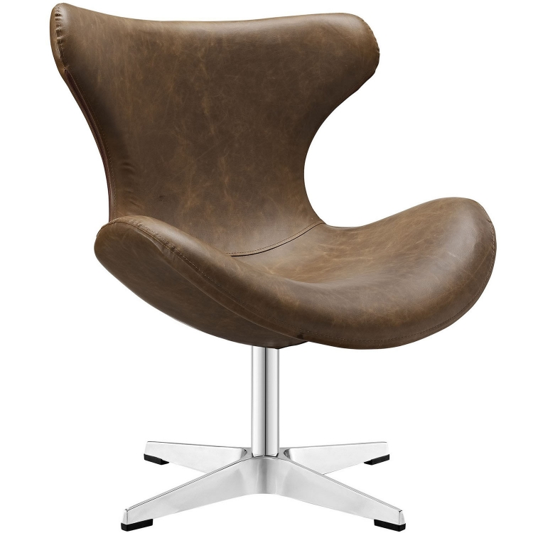 Helm Lounge Chair - Brown