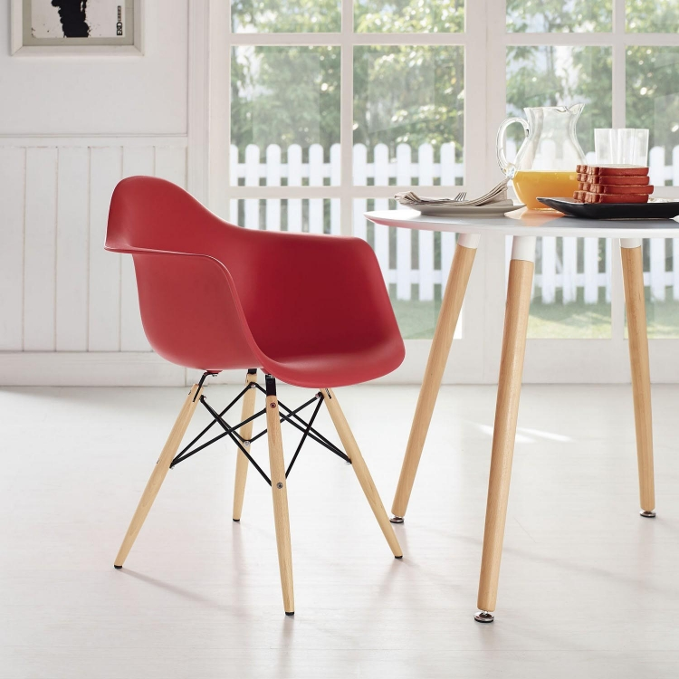 Pyramid Dining Armchair - Red