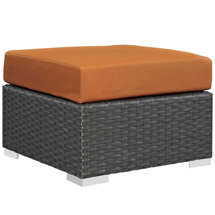 Sojourn Outdoor Patio Sunbrella Ottoman - Canvas Tuscan
