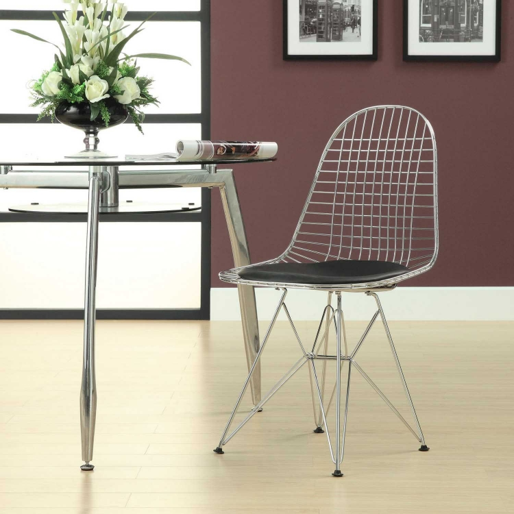 Tower Dining Side Chair - Black