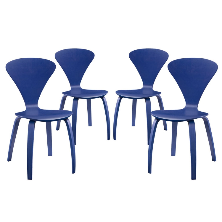 Vortex Dining Chairs Set of 4 - Blue