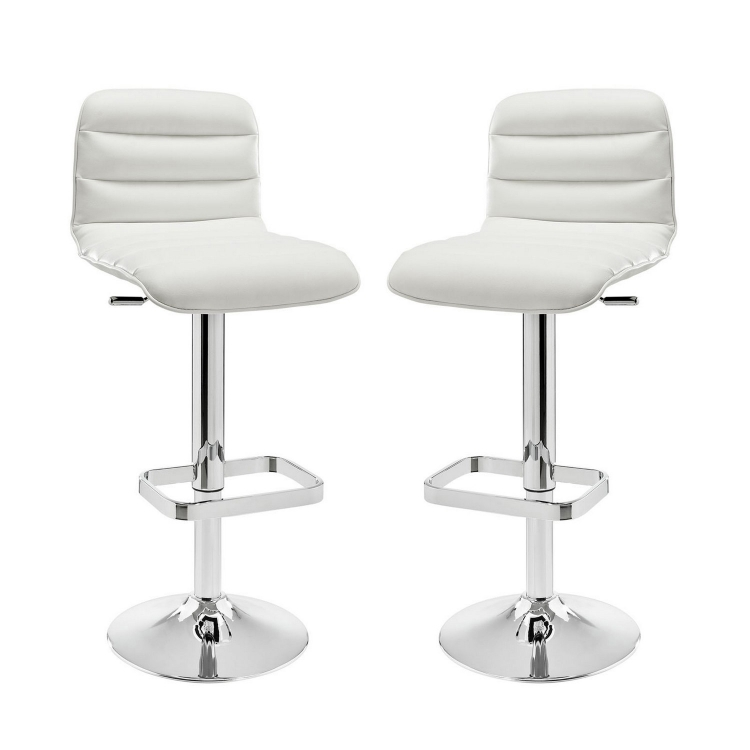 Ripple Bar Stool Set of 2 - White