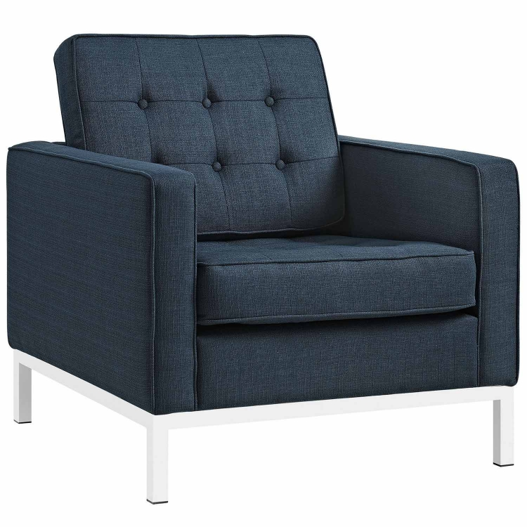 Loft Fabric Arm Chair - Azure