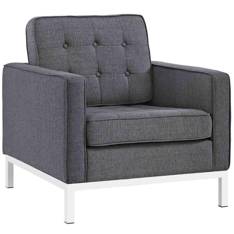 Loft Fabric Arm Chair - Gray