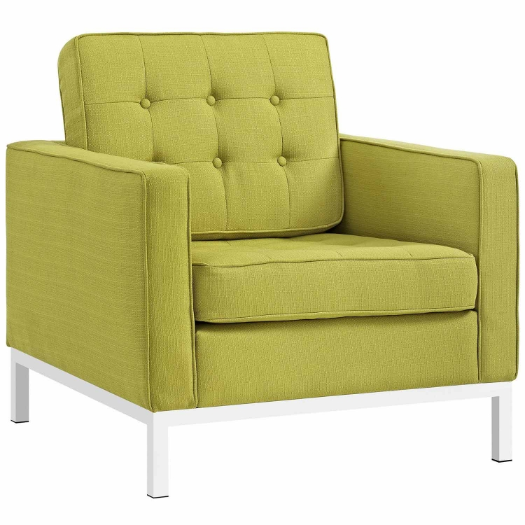 Loft Fabric Arm Chair - Wheatgrass
