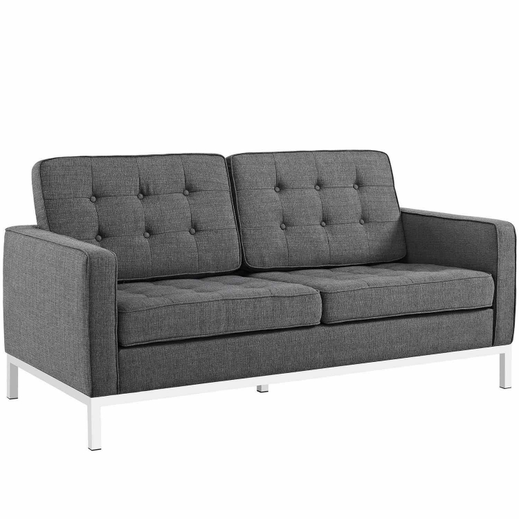 Loft Fabric Loveseat - Gray
