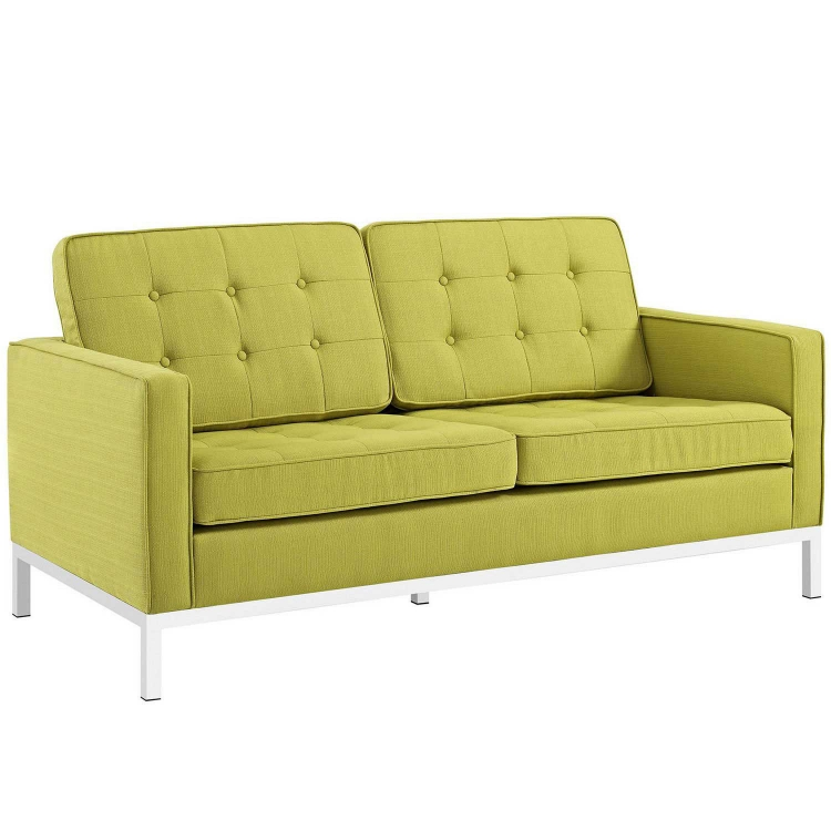 Loft Fabric Loveseat - Wheatgrass
