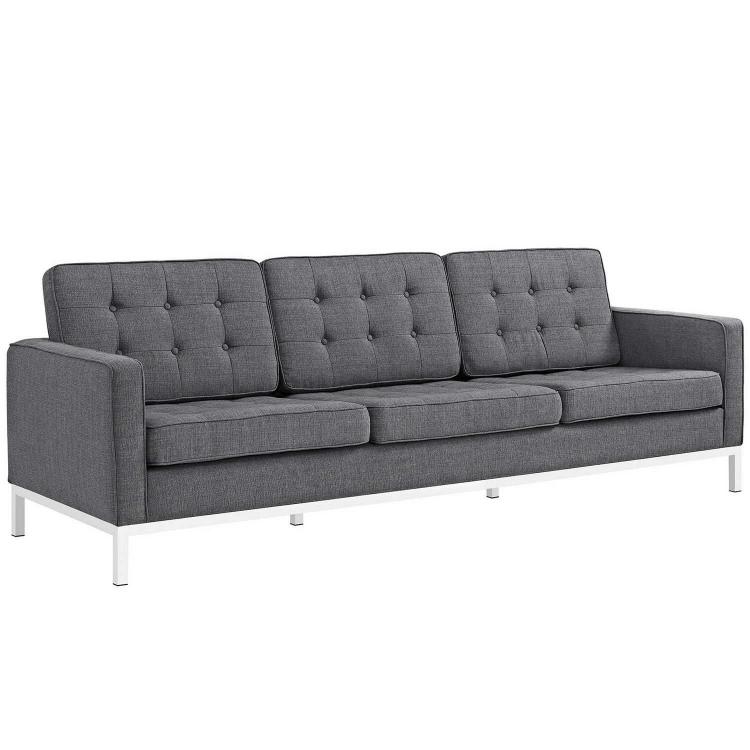 Loft Fabric Sofa - Gray