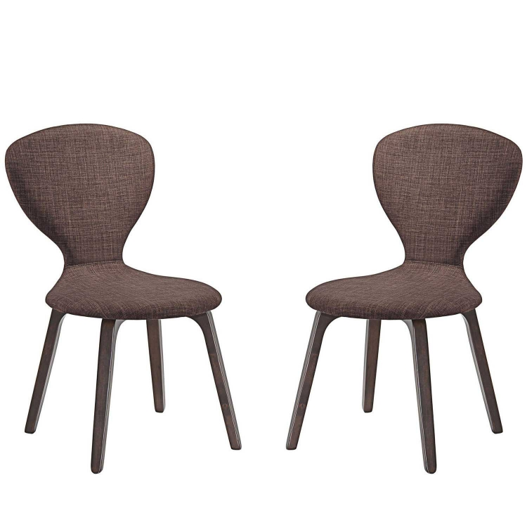 Tempest Dining Side Chair Set of 2 - Walnut Brown