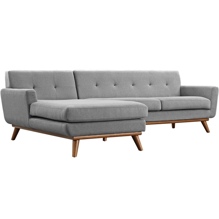 Engage Left-Facing Sectional Sofa - Expectation Gray