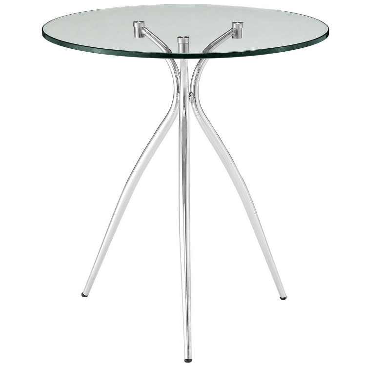 Moxy Glass Top Side Table - Clear