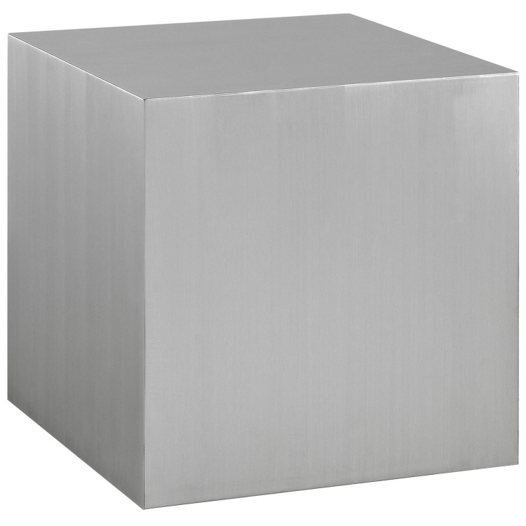 Cast Stainless Steel Side Table - Silver