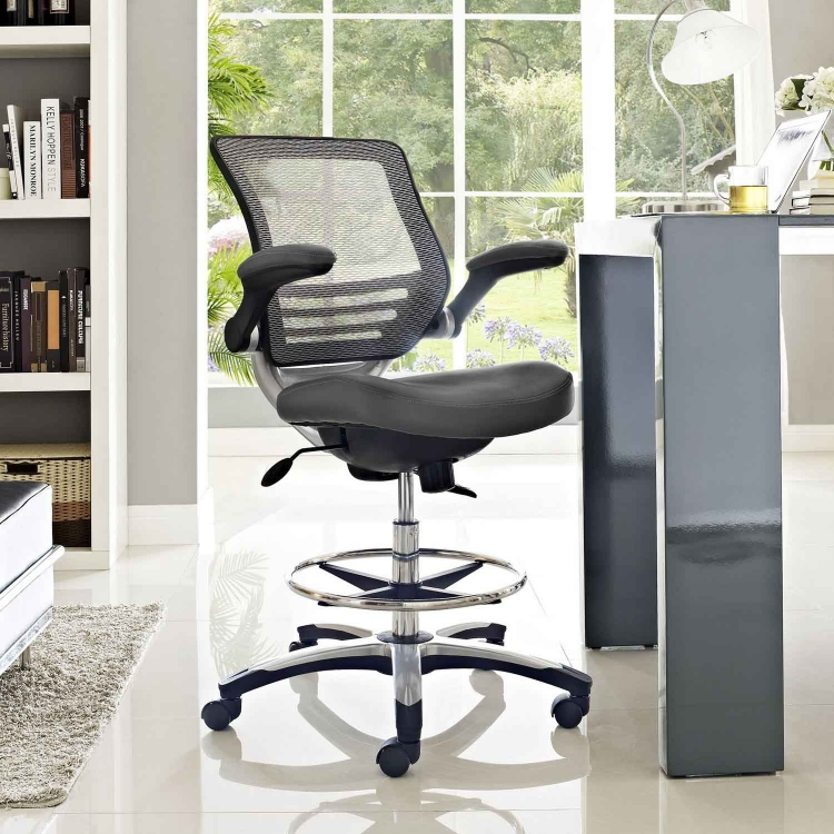 Edge Drafting Stool - Gray