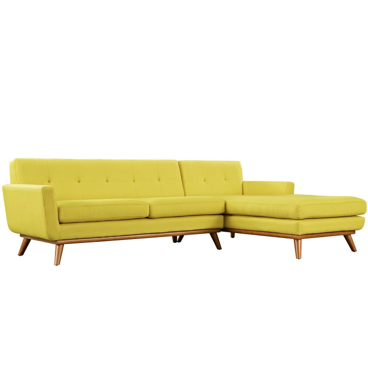 Engage Right-Facing Sectional Sofa - Sunny