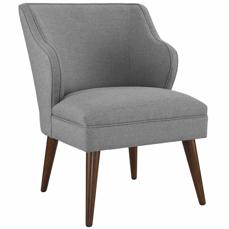 Swell Fabric Arm Chair - Light Gray