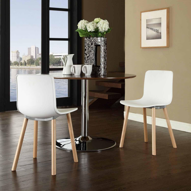 Sprung Dining Side Chair - White