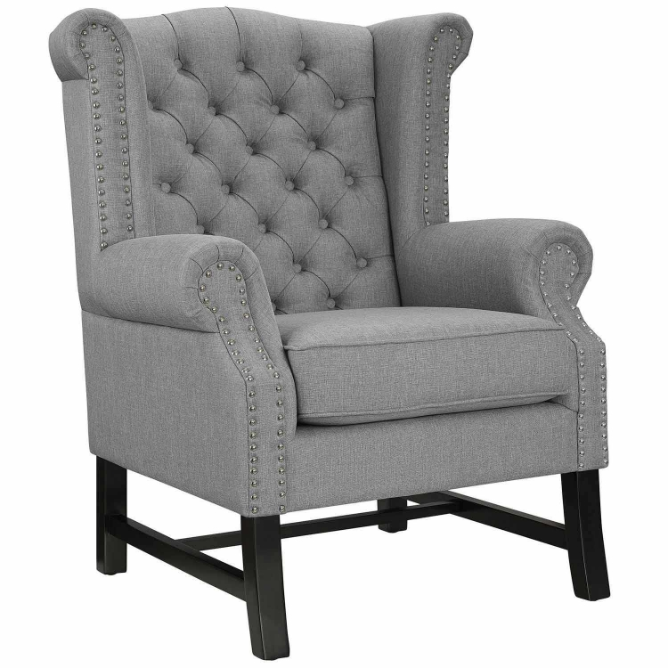Steer Fabric Arm Chair - Light Gray
