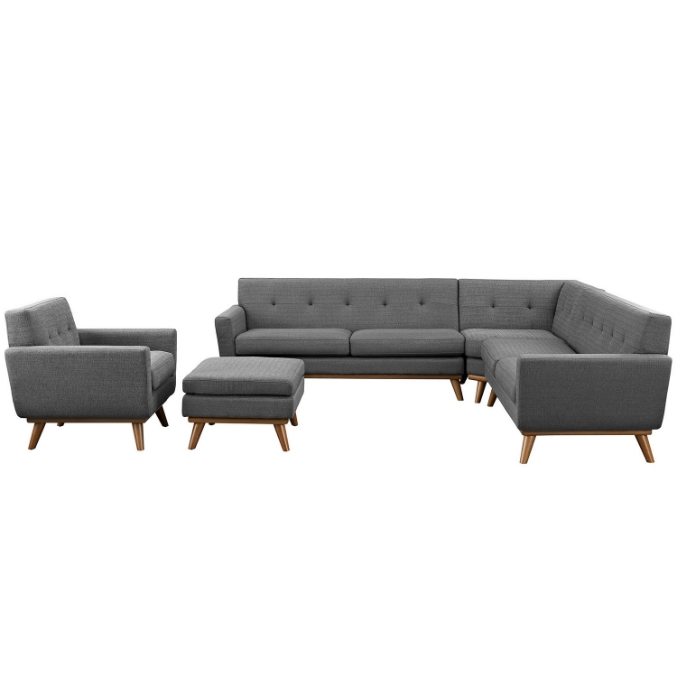 Engage 5 Piece Sectional Sofa - Expectation Gray