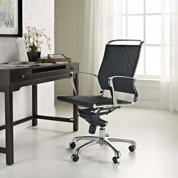 Vibe Mid Back Office Chair - Black