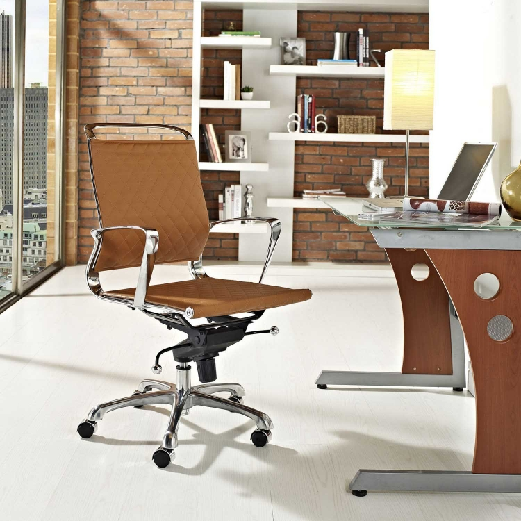 Vibe Mid Back Office Chair - Tan