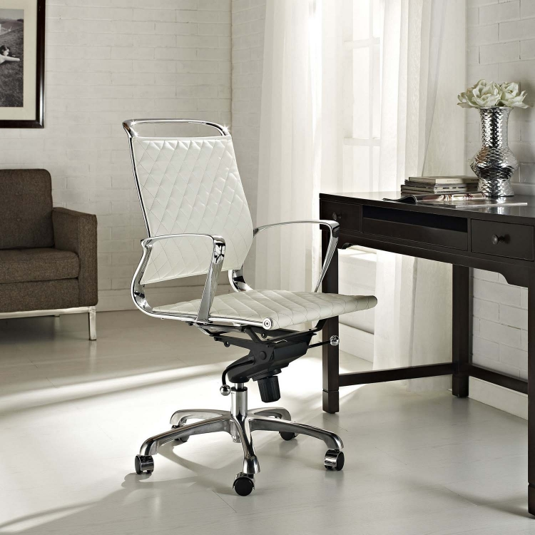Vibe Mid Back Office Chair - White