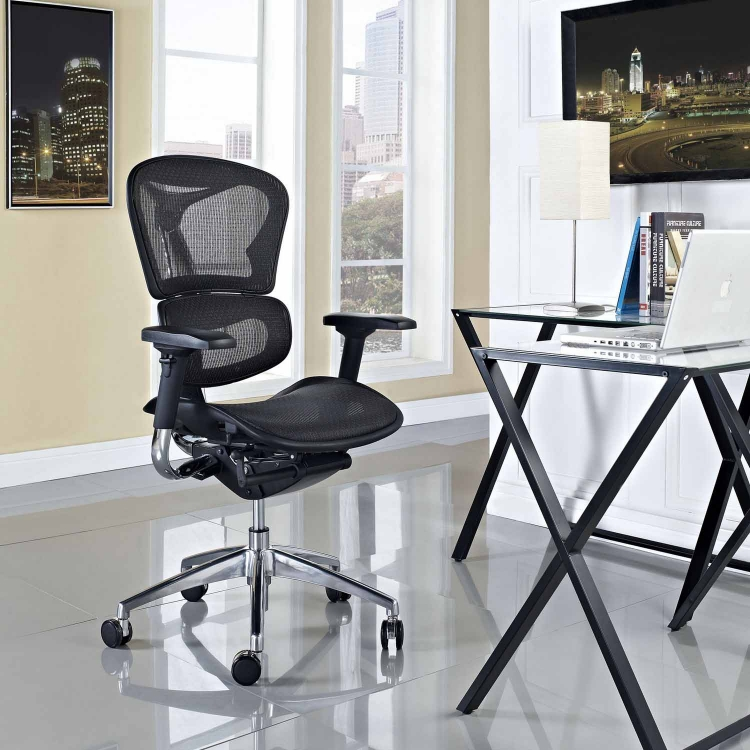 Lift Mid Back Office Chair - Black