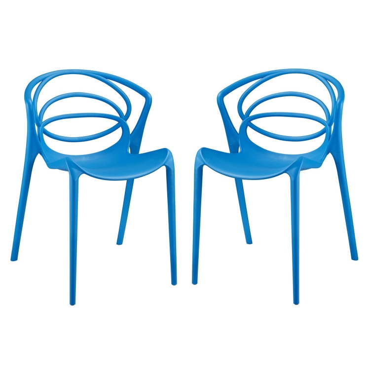 Locus Dining Chair - Set of 2 - Blue