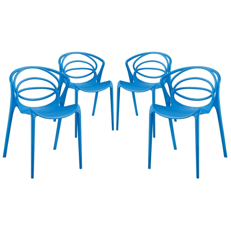 Locus Dining Chair - Set of 4 - Blue