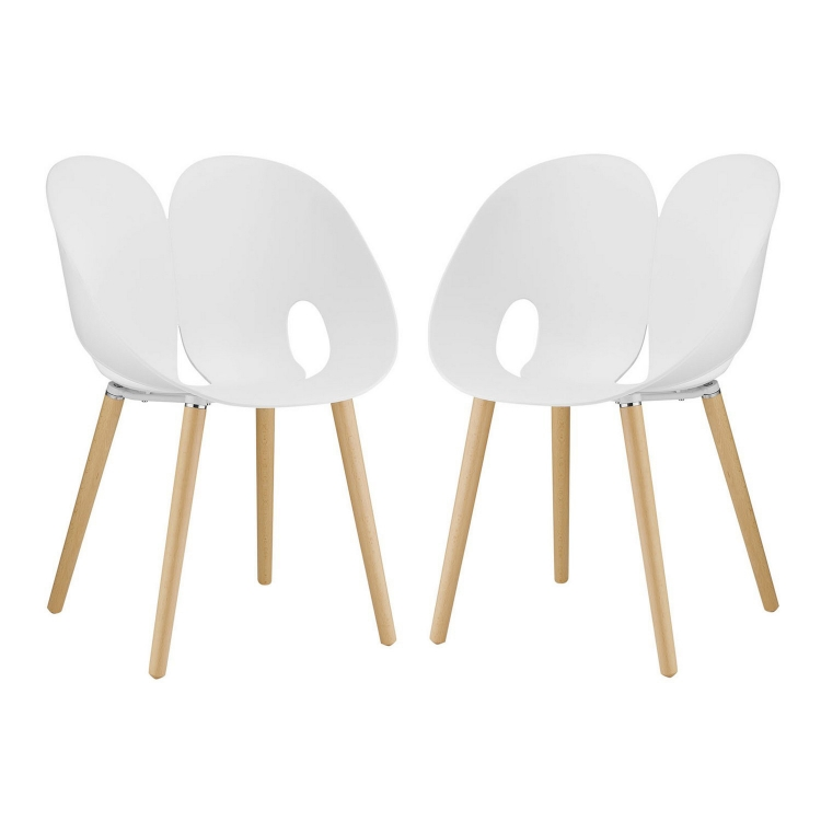 Envelope Dining Chair - Set of 2 - White