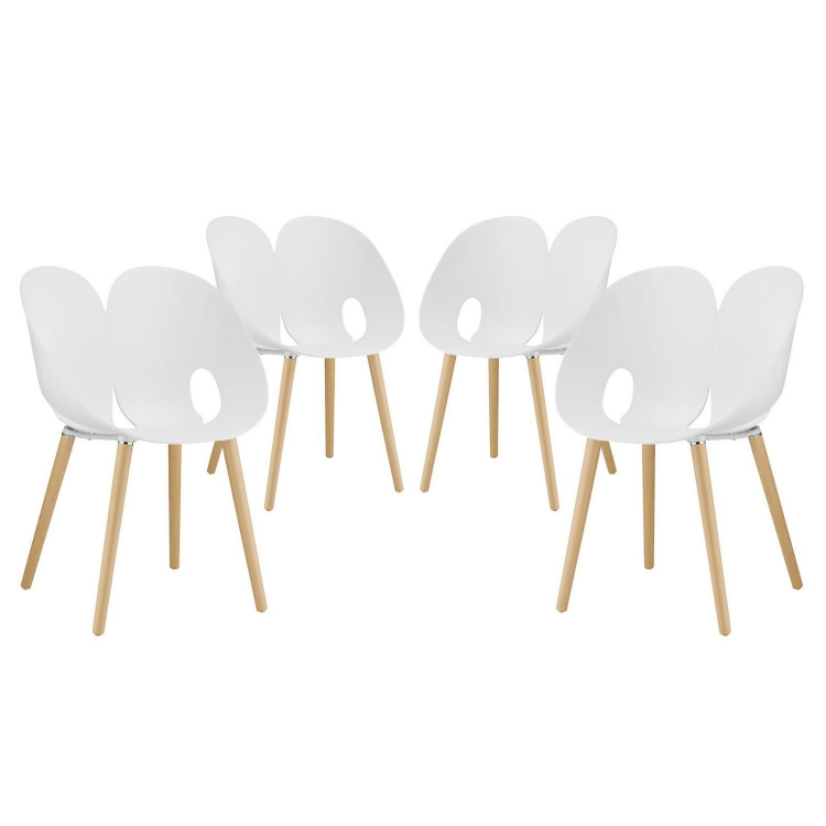Envelope Dining Chair - Set of 4 - White