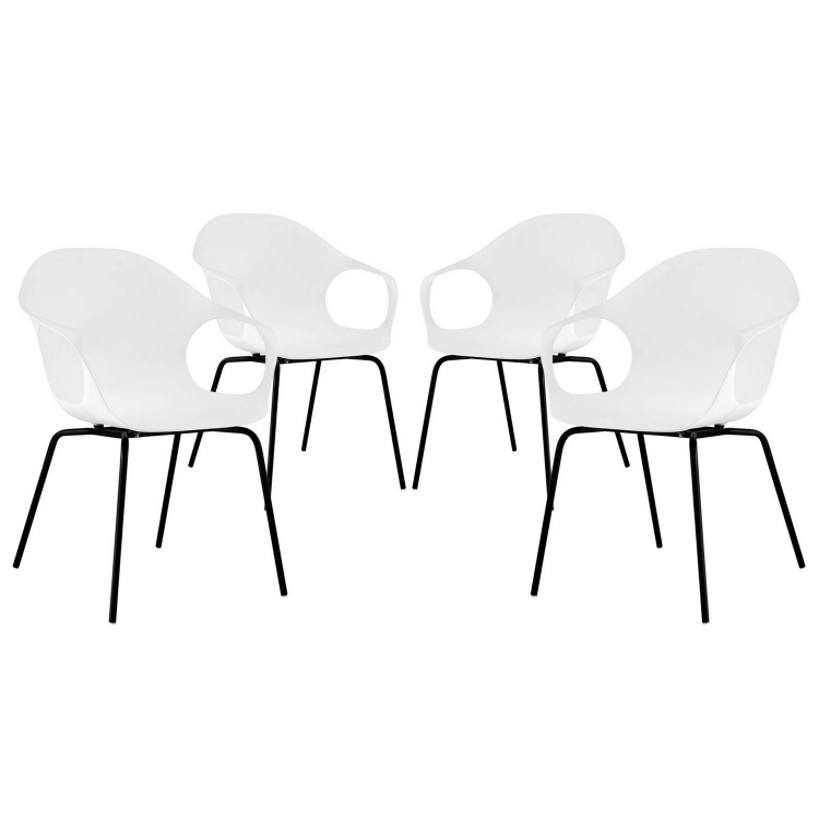 Swerve Dining Chair - Set of 4 - White