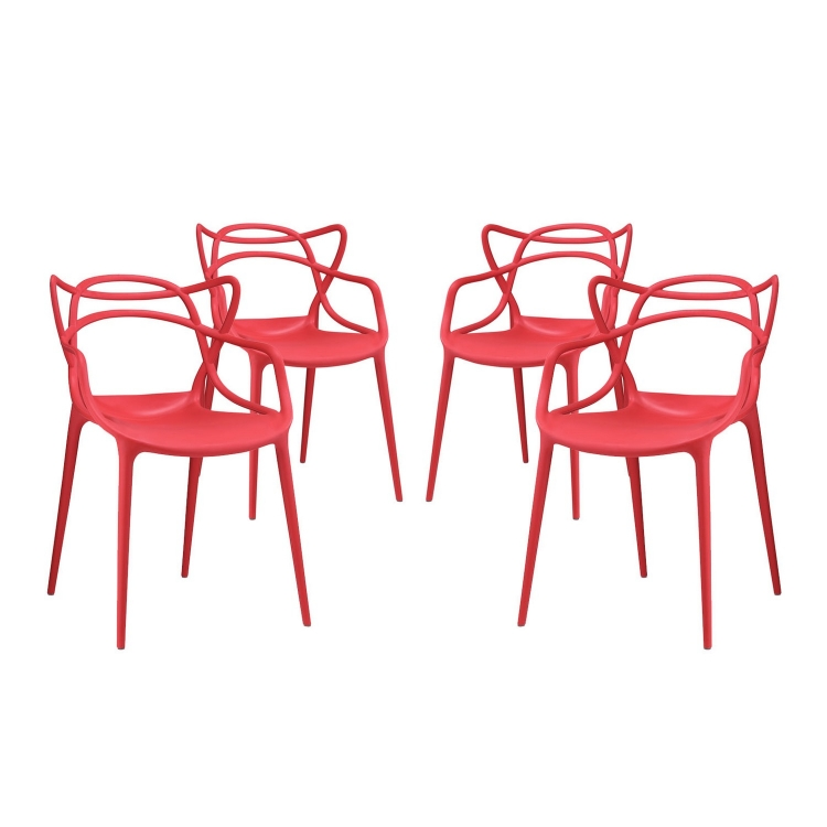 Entangled Dining Chair - Set of 4 - Red