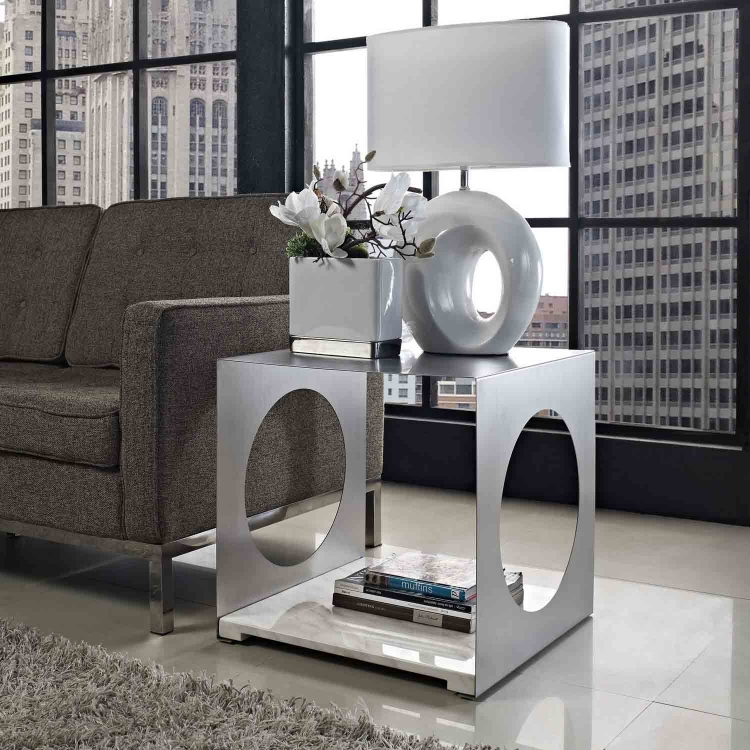 Surpass Side Table - White