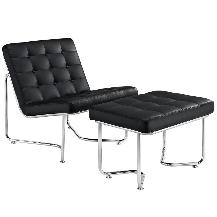 Gibraltar Lounge Chair - Black