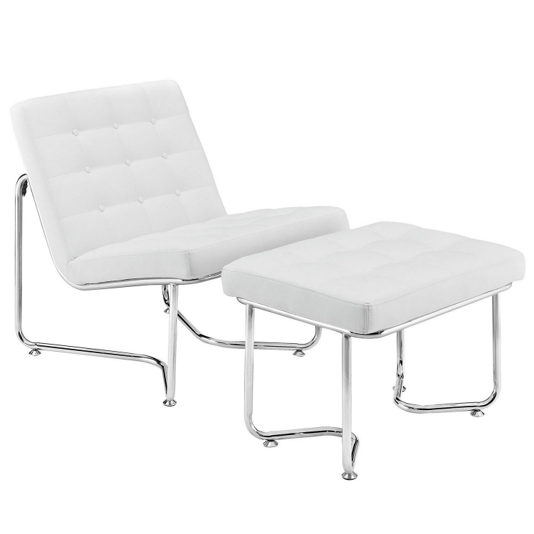 Gibraltar Lounge Chair - White