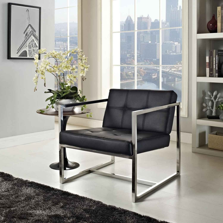 Hover Lounge Chair - Black