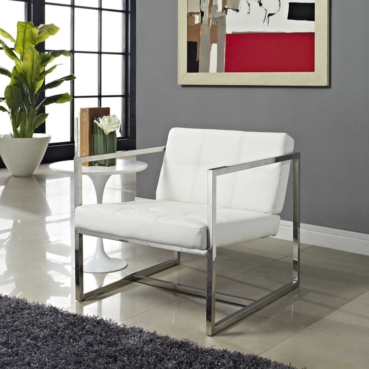 Hover Lounge Chair - White