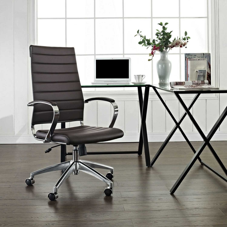 Jive Highback Office Chair - Brown