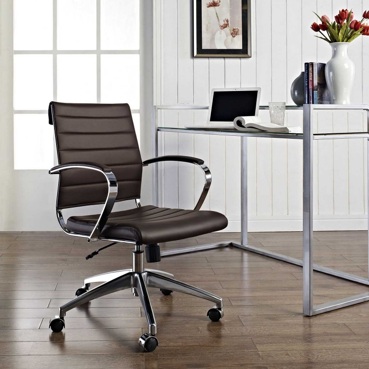 Jive Mid Back Office Chair - Brown