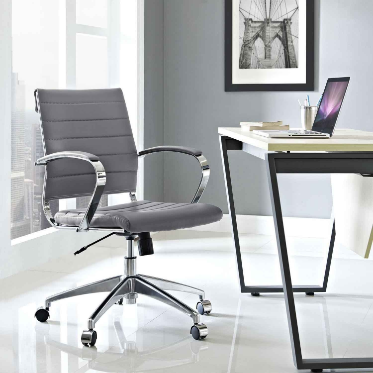 Jive Mid Back Office Chair - Gray