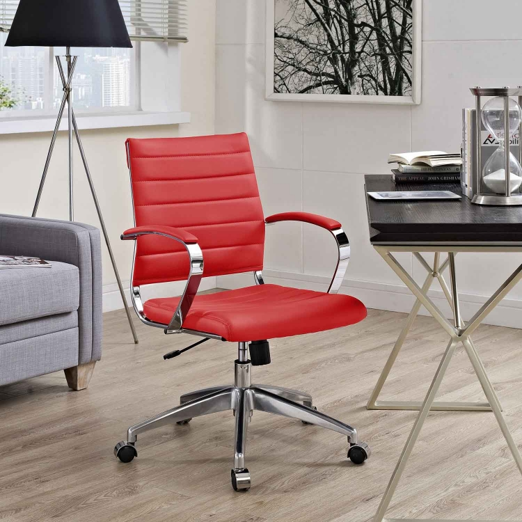 Jive Mid Back Office Chair - Red