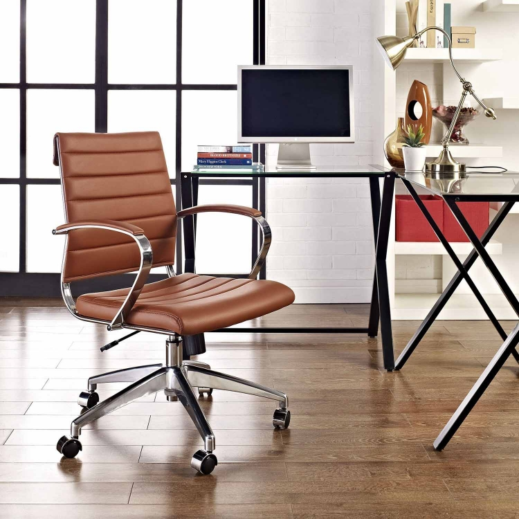 Jive Mid Back Office Chair - Terracotta