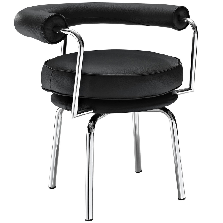 Saloon Dining Arm Chair - Black