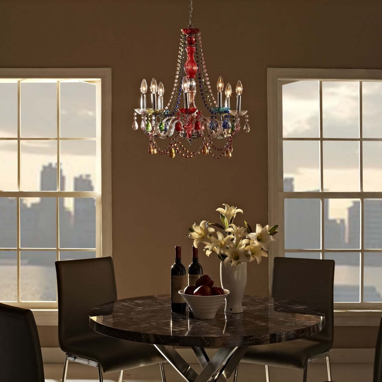 Palace Acrylic Chandelier - Multicolored