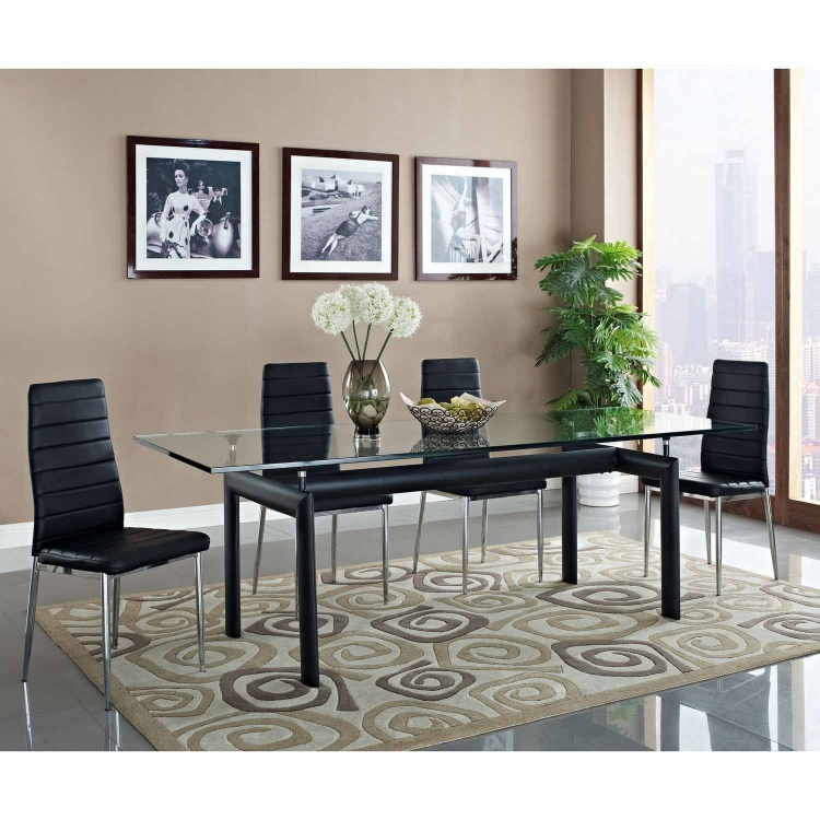 Charles Dining Table - Black
