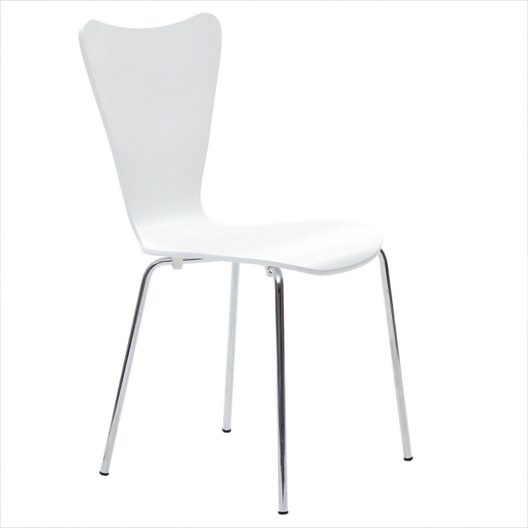 Ernie Dining Side Chair - White