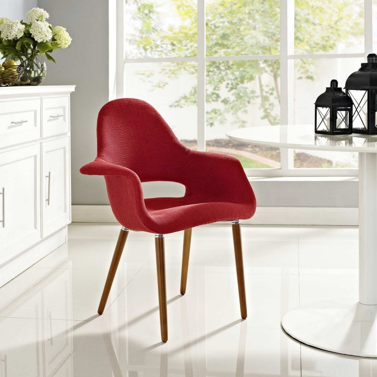 Aegis Dining Armchair - Red