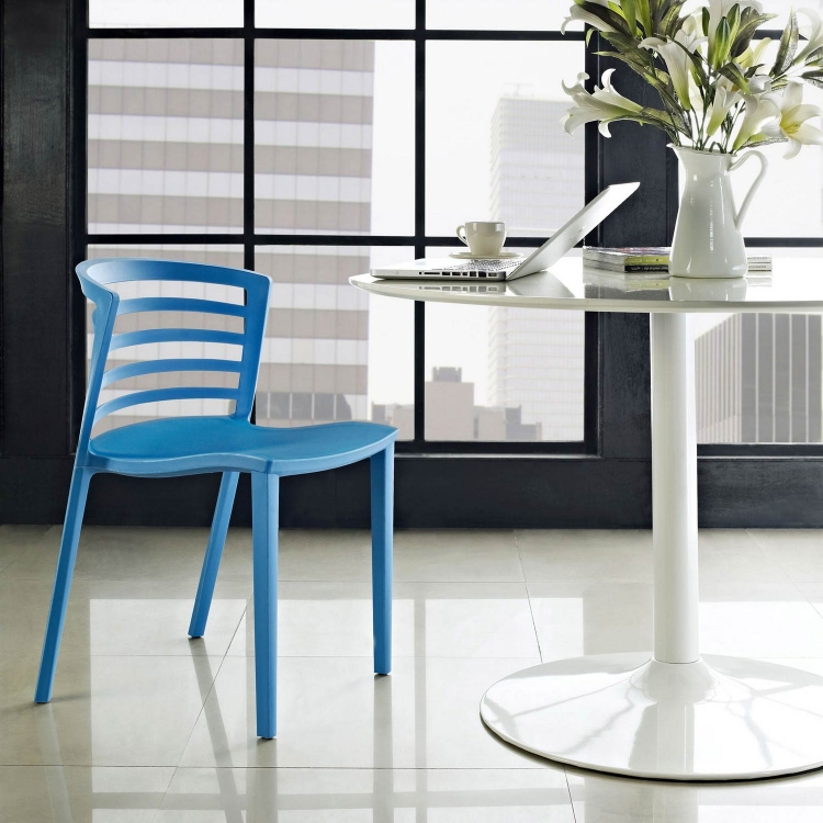 Curvy Dining Side Chair - Blue