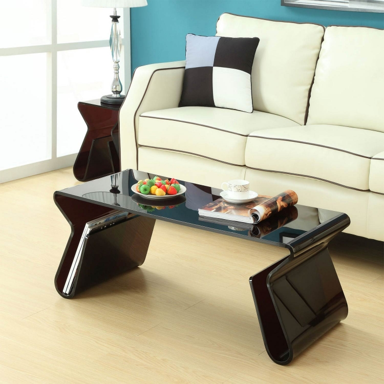 Magazine Acrylic Coffee Table - Black
